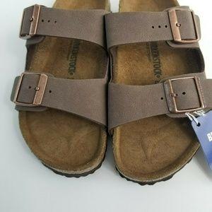 Birkenstock Shoes - Birkenstock Arizona Brown Leather Buckle Sandal
